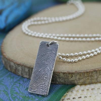 Personalisierte Silbertinte Fingerabdruck Halskette