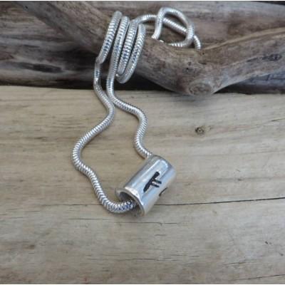 Personalisierte Silber Rune Thong Halskette