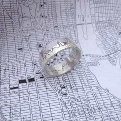 Personalisierte City Skyline Ring