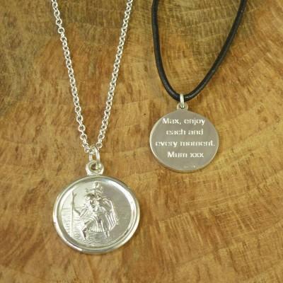 St Christopher Sterlingsilber Halskette