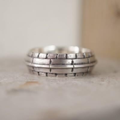 Dach Silber Ring