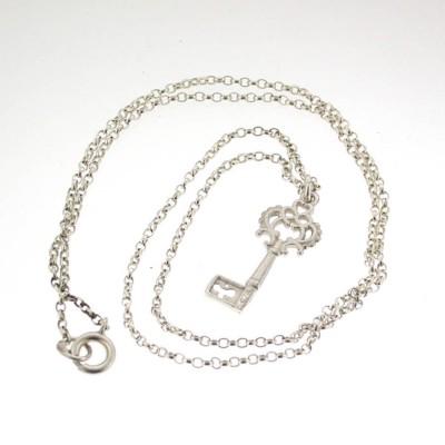 Silber Heritage Key Anhänger mit 18 Silberkette