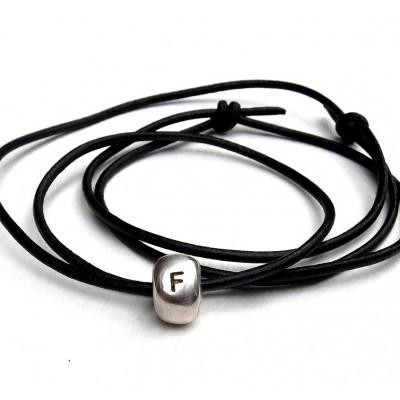 Personalisierte Silber Nugget Halskette