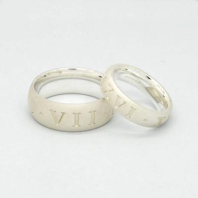 Silver römische Ziffer Ring