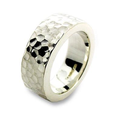 Sterling Silber gehämmert Ring