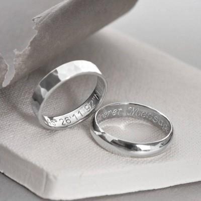 Sterling Silber Secret Message Ring
