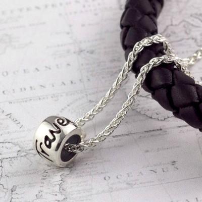 Travel Safe' Solid Silber Mojo Charme Halskette