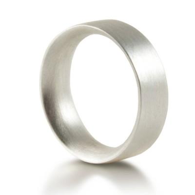 Für Männer Sterling Silber Ehering Comfort Fit Matt