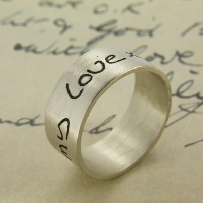 Ihre eigene Handschrift Personalisierte Ring